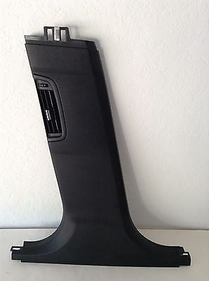 BMW F10 OEM B PILLAR COVER LEFT DRIVER SIDE BLACK w/ AC VENT 7211887