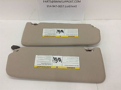 BMW F10 OEM OYSTER SUNVISOR LEFT RIGHT DRIVER 528i 535i 550i M5 2011 2012 2013