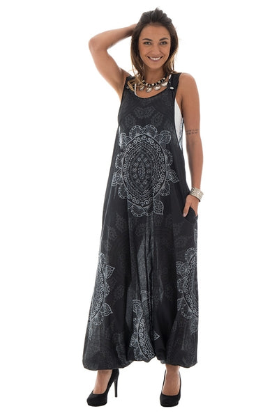 Mono hippie chic estampado negro - India