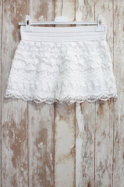Short / Mini falda hippie chic de crochet - Modelo Waves