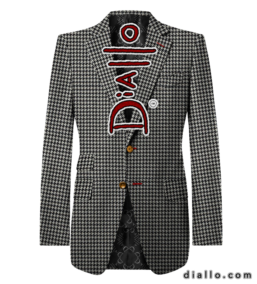 Pure Houndstooth Wool Blazer Diallo (TM) Blazer.