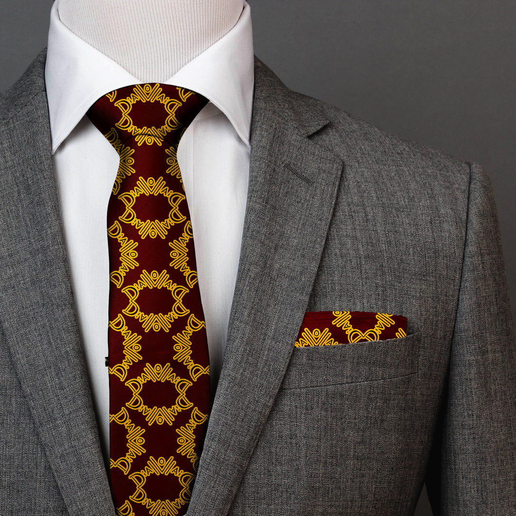 Diallo (TM) Signature Silk Tie & Pocket Square