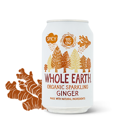 Organic Sparkling Ginger Drink 330ml