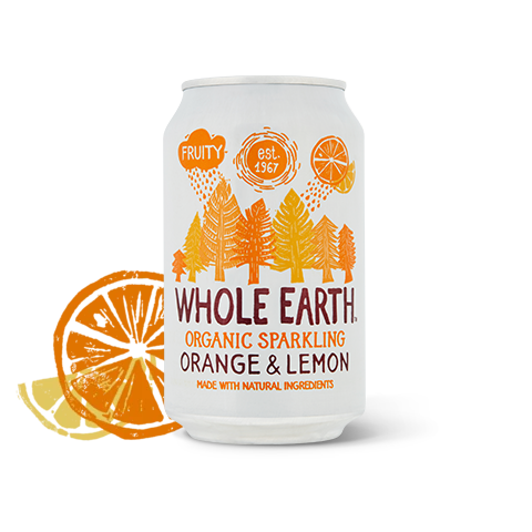 Organic Lightly Sparkling Orange & Lemon Drink 330ml