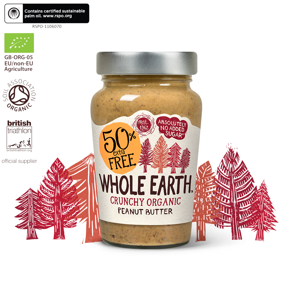 Organic Crunchy Peanut Butter 50% Extra Free 340g
