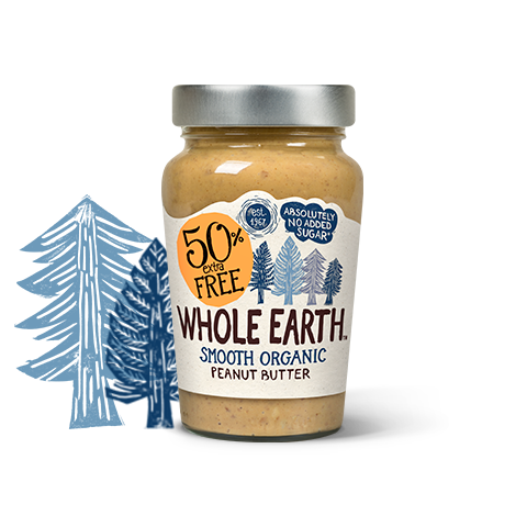 Organic Smooth Peanut Butter 50% Extra Free 340g