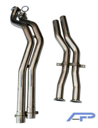 AP 01-05 BMW E46 M3 Stainless Steel Section 2 Midpipes