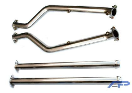 AP 08+ BMW E92 M3 Stainless Steel Section 1 and Section 2 Midpipes