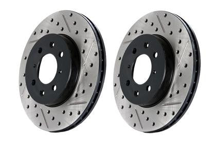 StopTech 07-10 BMW 335i Cross Drilled Left Front Rotor