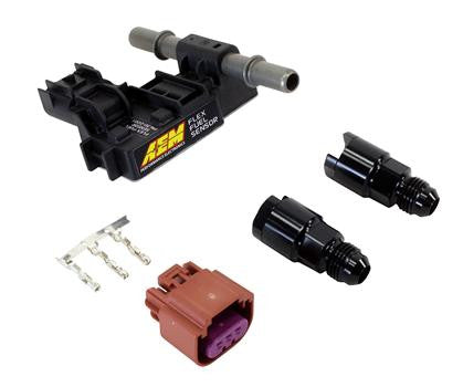 AEM Ethanol Content Flex Fuel Sensor w/ -6AN fittings Kit