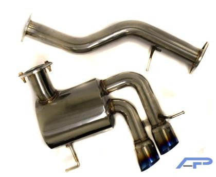AP 07+ BMW 135i Rear Axle Back Exhaust System w/ Ti Tips