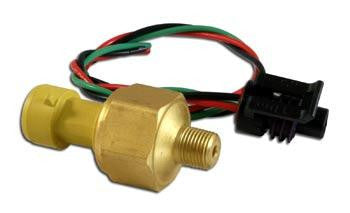 "AEM 150 PSIg MAP Brass Sensor Kit (Includes 150 PSIg Brass Sensor & 12"" Flying Lead Connector)"