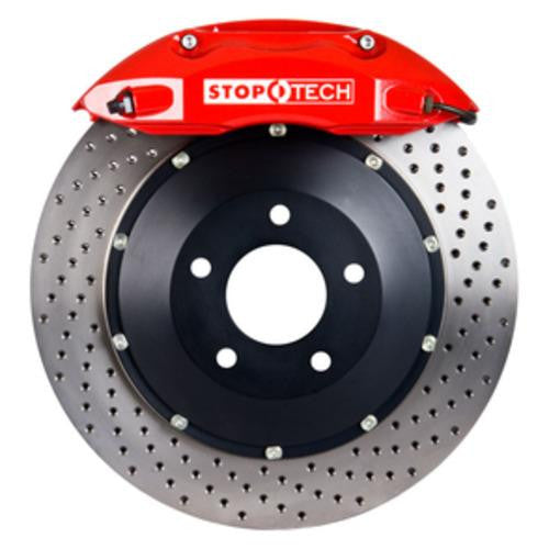 StopTech 07-12 BMW X5 Rear BBK w/ Black ST-41 Calipers Slotted 380X32 Rotors/Pads/SS Lines
