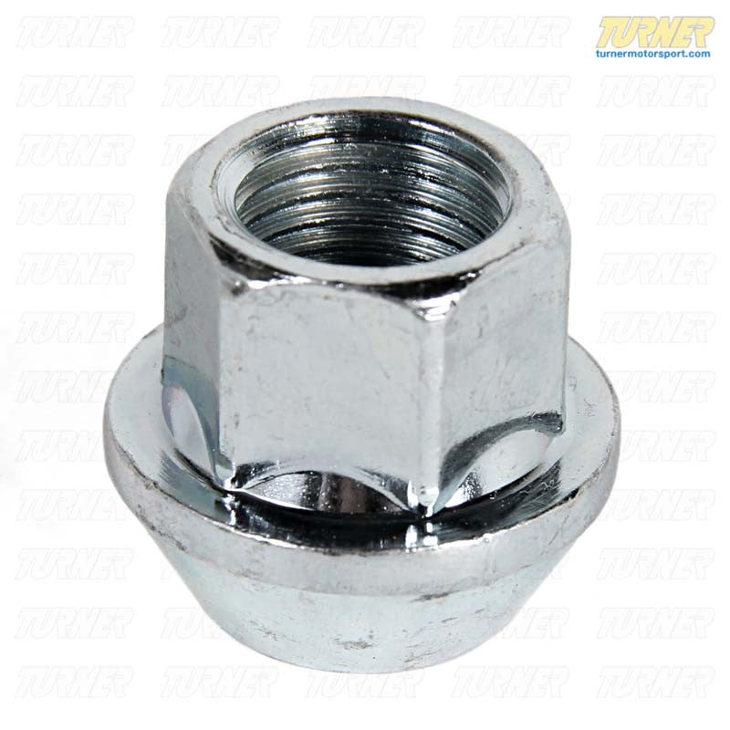 17mm 14x1.5 Turner Silver Zinc-Coated Wheel Nut