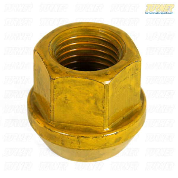 19mm 14x1.5 Turner Yellow Zinc-Coated Race Wheel Nut