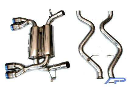 AP 08-09 BMW E92 M3 Stainless Steel Exhaust w/Ti tips