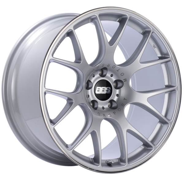 BBS CH-R 19x10.5 5x120 ET25 Brilliant Silver Polished Rim Protector Wheel -82mm PFS/Clip Required