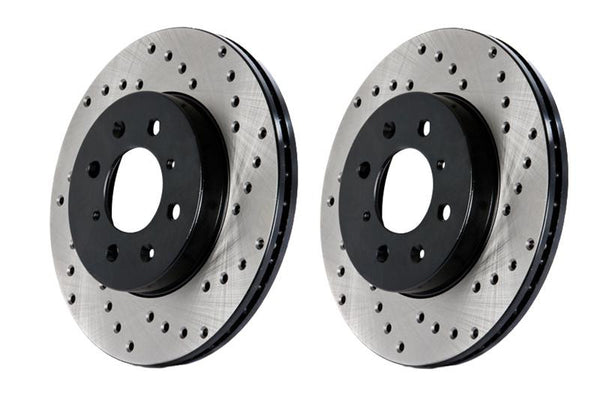 StopTech Power Slot 08-09 BMW 128i / 06 325 / 01-09/07 328 Front Drilled & Slotted Rotor