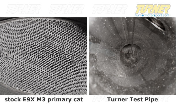 E9X M3 Turner Motorsport Test Pipes (Cat Delete)