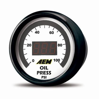 AEM 52mm Pressure (Oil or Fuel) Digital Gauge