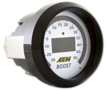 AEM 52mm Boost Digital Gauge -30-50psi