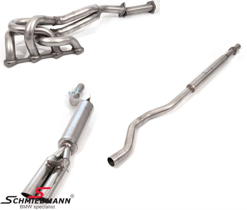 Schmiedmann E10 2002 Classic Race Complete Sport Exhaust System, Tailpipes 2X76MM Round