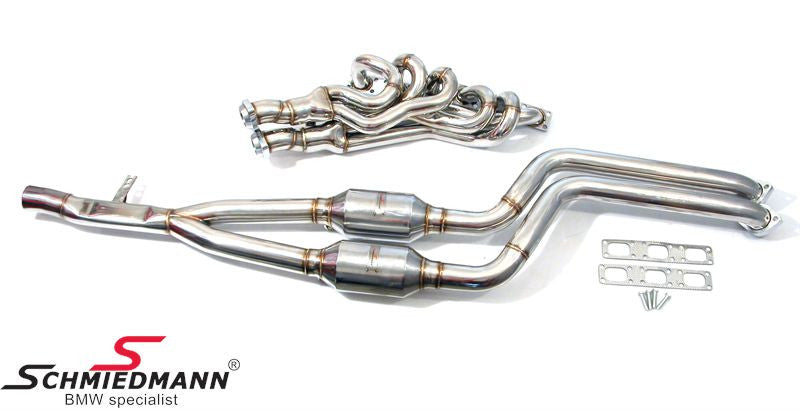 Schmiedmann E39 High Flow Sport Manifold M52/M54 Inclusive 400cell Euro3D4 Sport Catalysts (Does Also Fit RHD Drive Models)