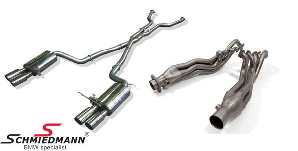 Schmiedmann E60 M5 Sport Exhaust System Complete Set Manifold /High Flow Metal Cat-System /X-pipe Middle Silencer Replacement /Sport Rear Silencers