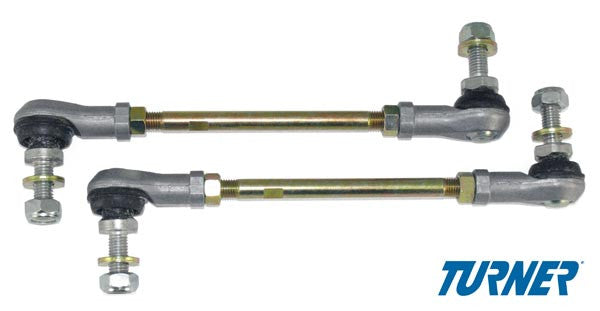 E28, E30, E34, E36, E39, E46, E9X, MZ3, Z4 Turner Motorsport Adjustable Front Sway Bar End Links (Pair)