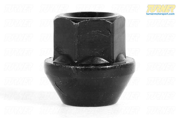 17mm 12x1.5 Turner Black Zinc-Coated Wheel Nut