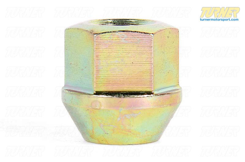 19mm 12x1.5 Turner Yellow Zinc-Coated Race Wheel Nut