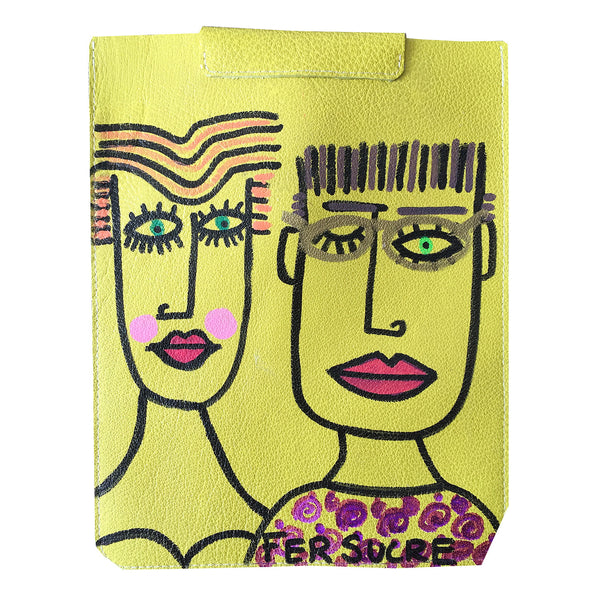 Cyber Couple IPad Cover Pop Bags