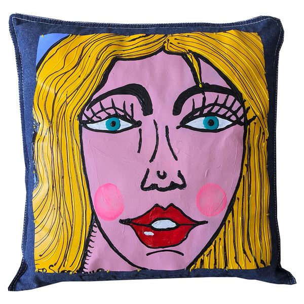 My Blonde Girl Pillow