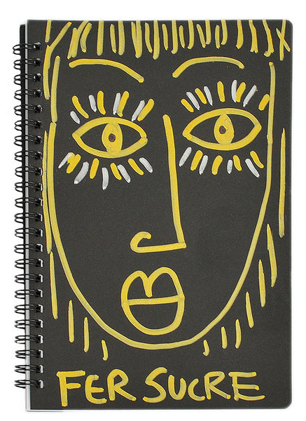 Yellow Woman Spiral  Sketch Notebook by Fer Sucre