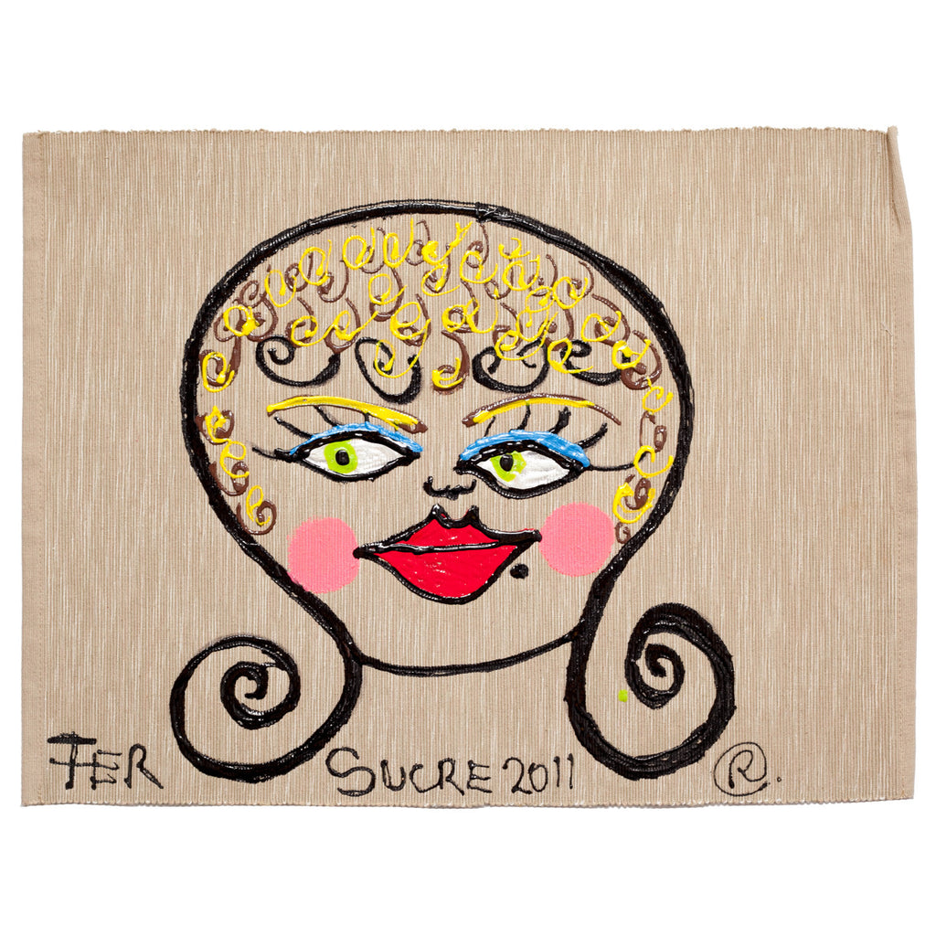 Blondie Individual Place Mat painted by Fer Sucre