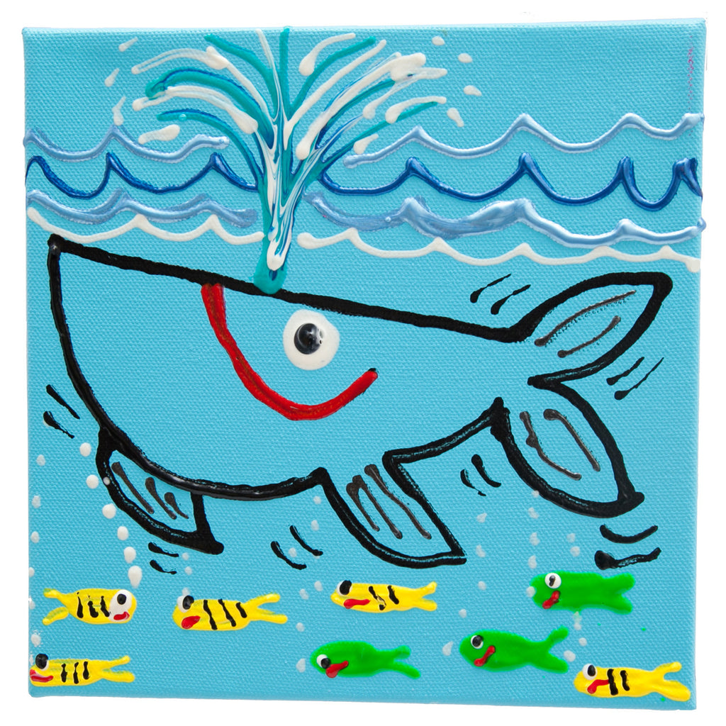 Whale small box by Fer Sucre in acrylic and plastic
