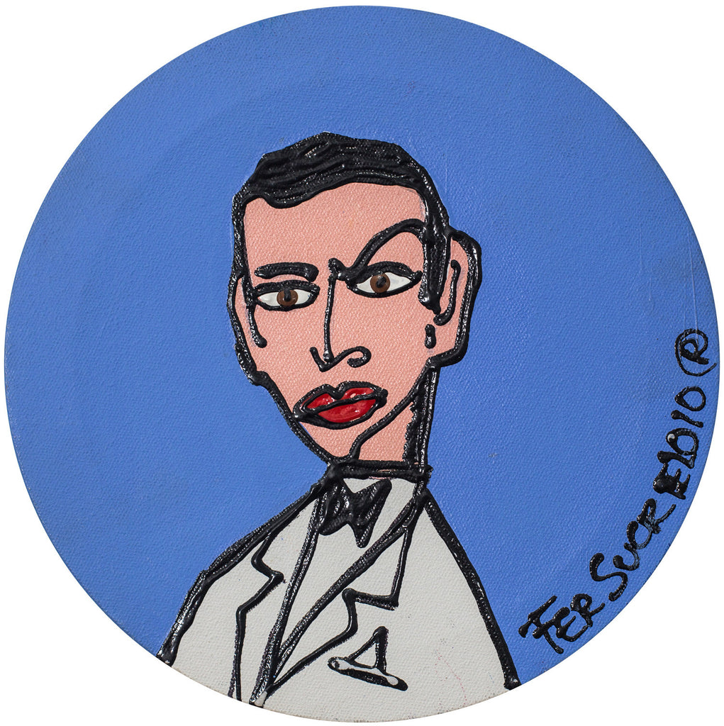 James Bond 007 pop art painting by Fer Sucre in acrylic and plastic