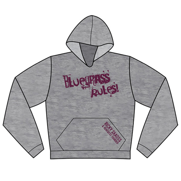 Bluegrass Rules Grey Hoodie