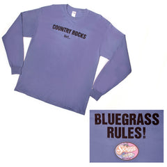 """Bluegrass Rules"" Blue Long Sleeve T-Shirt"