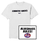 """Bluegrass Rules"" White Short Sleeve T-Shirt"