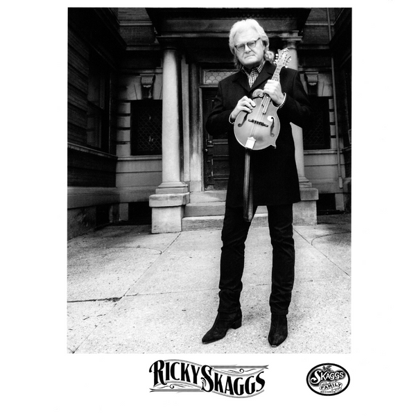 Ricky Skaggs Black and White Photograph