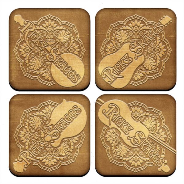 Ricky Skaggs Instrument Coasters