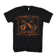 "Ricky Skaggs ""Lifetime of Music"" Mens Black T-Shirt"