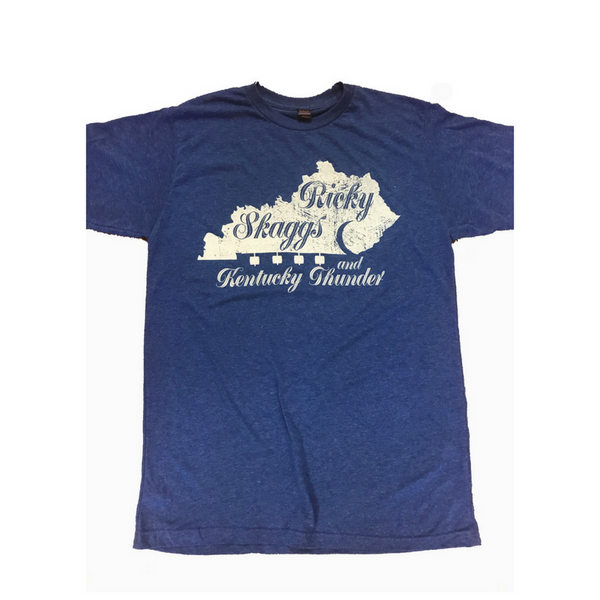Royal Blue Ricky Skaggs & Kentucky Thunder T-shirt