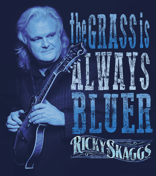 Ricky Skaggs Navy Blue Long Sleeve T-shirt