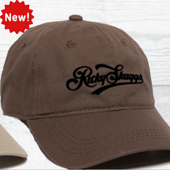 Brown Embroidered Ricky Skaggs Ballcap