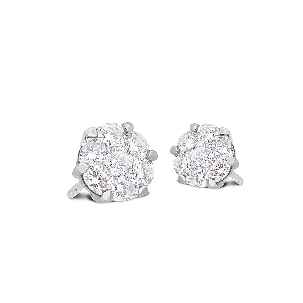 diamond earring tw white gold set ct w t prouctdetail in invisible buy earrings