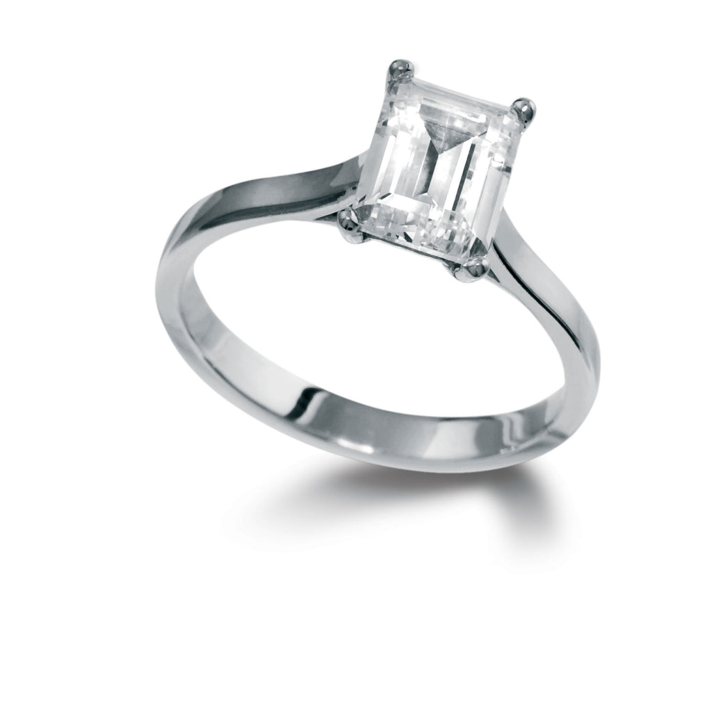 Emerald Cut Single Stone