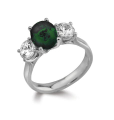 Emerald Three Stone