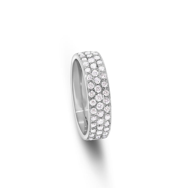 Mass Pave Wedding Band